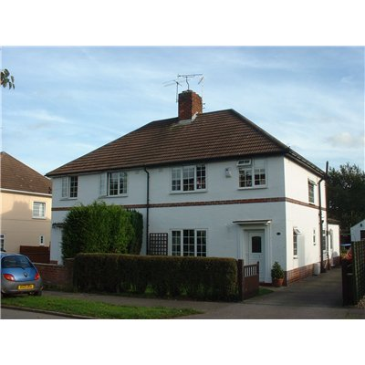 Semi-detached house located on Hartshome Drive, with front garden and off street parking.