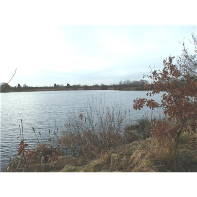 Former gravel pit, now lake, in the southeast corner of the Character Area
